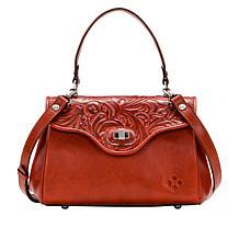 Patricia Nash Ardesia Leather Frame Satchel