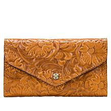 Patricia Nash Cori Leather Envelope Wallet  with RFID Protection