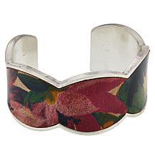 Patricia Nash Elisabetta Leather Inset Cuff Bracelet