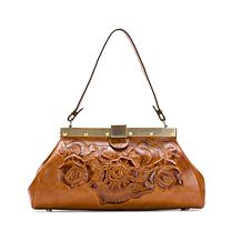 Patricia Nash Ferrara Tooled Leather Frame Satchel