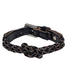 Patricia Nash Jolie Braided Leather Knot Bracelet