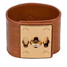 Patricia Nash Luigia Triple Turn-Lock Leather Cuff Bracelet