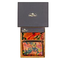 Patricia Nash Reala Leather Wristlet and Print Scarf Gift Set