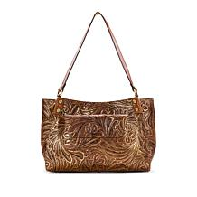 Patricia Nash Romina Leather Tote with Detachable Wallet