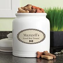 Personalized Good Boy! Treat Jar