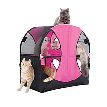 Pet Life Kitty Play Obstacle Cat House