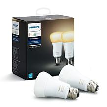 Philips - Hue White Ambiance A19 Smart LED Bulb - 2-pack