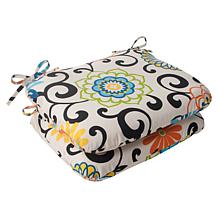 Pillow Perfect Set of 2 Rounded Corners Seat Cushions