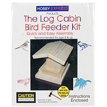 Pinepro Log Cabin Wood Bird House Kit - Unfinished