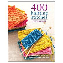 "Potter Craft Books ""400 Knitting Stitches"" Book"