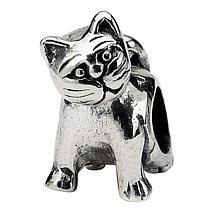 Prerogatives Sterling Silver Antique Cat Bead