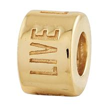 Prerogatives Sterling Silver Live Laugh Love Spacer Bead
