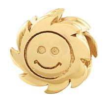 Prerogatives Sterling Silver Smiling Sun Bead