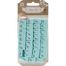 "Prima Press Alphabet Stamp Set 1/4"" Characters - #1"