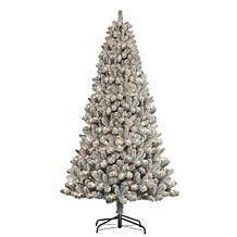 Puleo International 7.5' 500Light Artificial Pine Christmas Tree Green