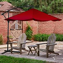 Pure Garden Offset 10u0027 Aluminum Hanging Patio Umbrella
