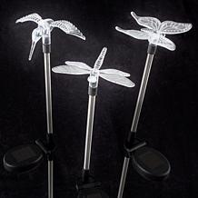 Pure Garden Solar-Powered LED Stake Lights