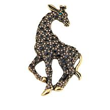 Rara Avis by Iris Apfel Crystal and Enamel Giraffe Brooch