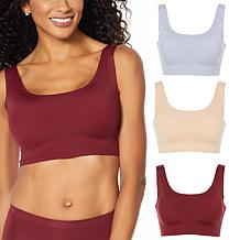 Rhonda Shear 3-pack Invisible Body Bra with Removable Pads