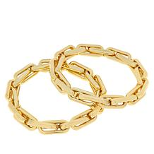 "R.J. Graziano ""Lux Life"" 2-piece Chain-Link Stretch Bracelet Set"