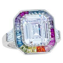 "Robert Manse ""CZ RoManse"" Multi-Color Emerald-Cut and Baguette Ring"