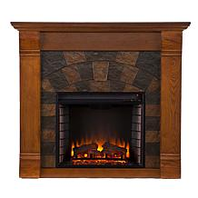Roberto Electric Fireplace - Salem Antique Oak