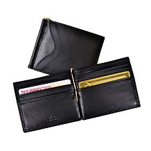 Royce® RFID-Blocking Black Leather Money-Clip Wallet