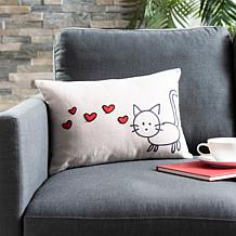 "Safavieh 12"" x 18"" Kitty Love Pillow"