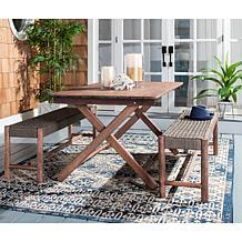 Safavieh Jardin 3-piece Outdoor Dining Set