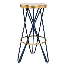 Safavieh Lorna Goldtone Leaf Bar Stool