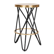 Safavieh Lorna Goldtone Leaf Counter Stool