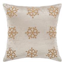 "Safavieh Sydnee Snowflake 20"" x 20"" Pillow"