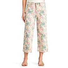 Sam Edelman The Chelsea Wide Leg Crop Jean - Water Color Tie Dye