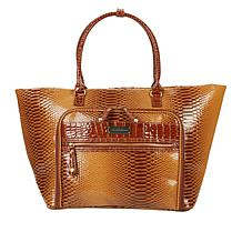 Samantha Brown Croco-Embossed Shopper Tote