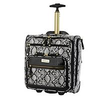 Samantha Brown Embossed Rolling Carry-It-All Bag