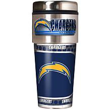 San Diego Chargers Travel Tumbler w/ Metallic Graphics and Team Logo