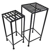 Santa's Workshop Iron Plant Stand in Black 2-pack