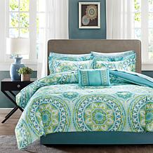 Serenity Full 9pc Complete Bed and Sheet Set - Aqua