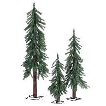 Set of 3 Unlit Alpine Trees