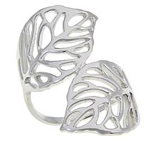 Sevilla Silver™ Leaf Bypass Ring