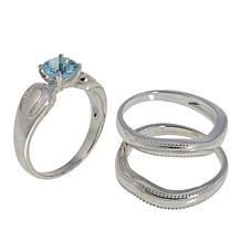 Sevilla Silver™ Sky Blue Topaz 3-piece Ring Set