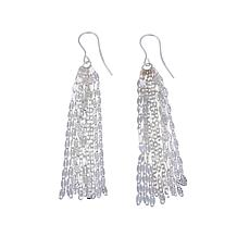 Sevilla Silver™ Sparkle Chain Tassel Drop Earrings