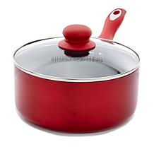 Simply Ming Healthy Cookware Lightweight Soft-Grip Covered Saucepan