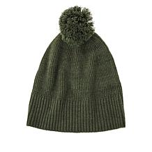 Skinnygirl Marled Knit Pompom Hat