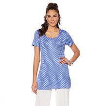 Slinky® Brand 2pk Short-Sleeve Long Tunics in Print and Solid
