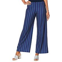 Slinky® Brand Luxe Crepe Striped Palazzo Pant