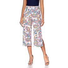 Slinky® Brand Printed Knit Basic Cropped Pant