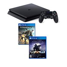 "Sony PlayStation 4 1TB Console w/""TitanFall 2,"" ""Destiny 2"" & Sleeve"