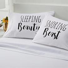 South Street Loft Cotton Printed 2-pk Pillowcases - Beauty & Beast