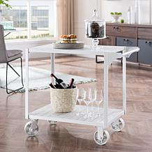 Southern Enterprises Pinchara Bar Cart - White